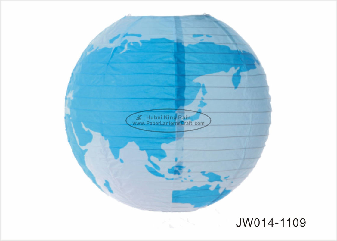 "6"" 10"" 14""  Earth Paper Craft For Kids With Geographical World Map Printing"