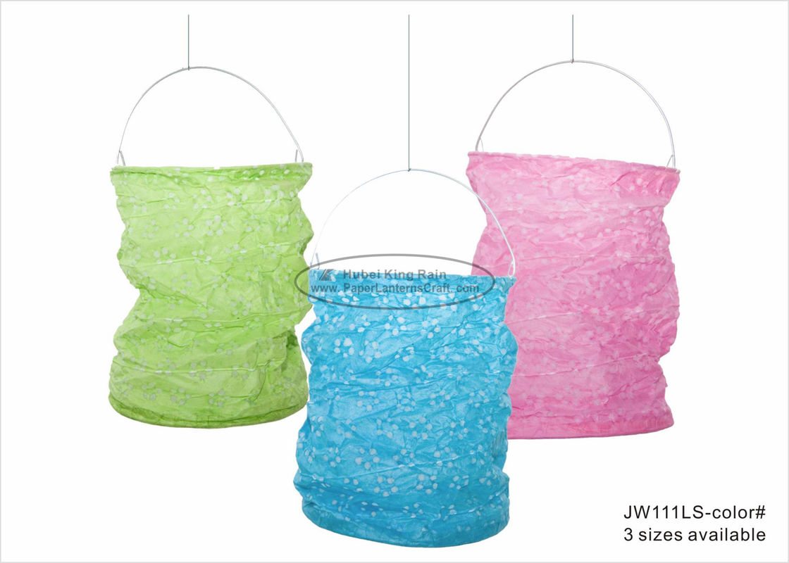 Paper Lanterns  Craft 13 X 20 cm Green Pink Blue New Year Decor