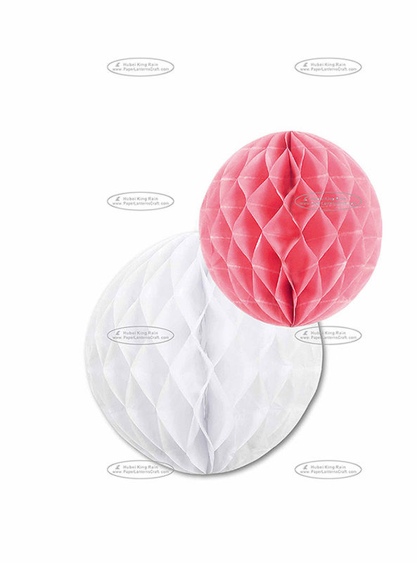 Dia 30cm & 25cm Paper Honeycomb Balls Combination Pom Poms For Party