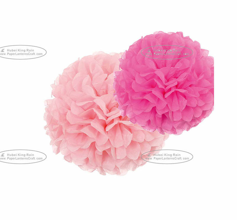 Tissue Paper Lantern Wedding Decor Pom Pom Flowers Decorations 100% Handmade