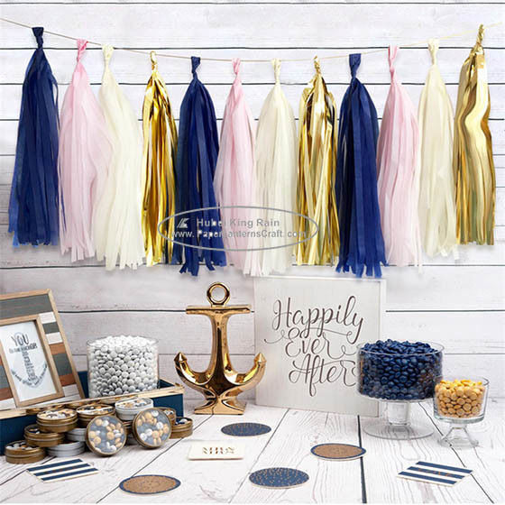 Tassel Garland Outdoor And Indoor Paper Wedding Happy Birthday Garland