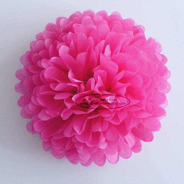 Hot Pink Party Decoration Paper Flower Tissue Paper Pom Poms Balls Craft
