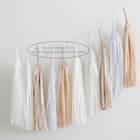 Graceful Polychrome Paper Tassel Garland Wedding Party Garland