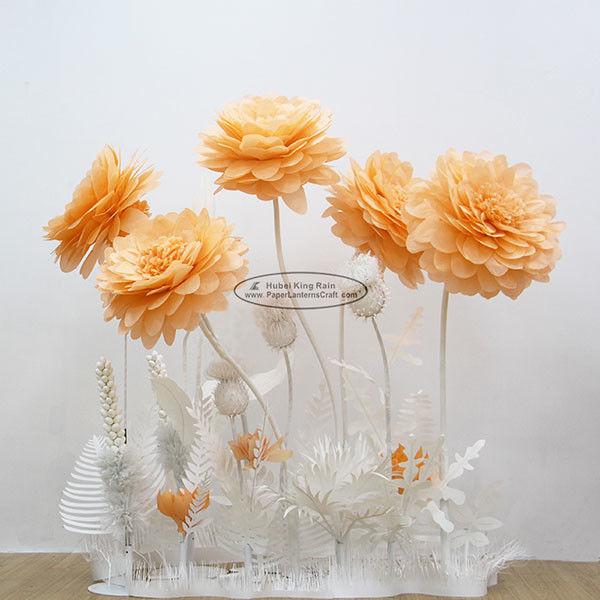 New Paper Camellia Tissue Paper Pom Poms Craft Party Decoration
